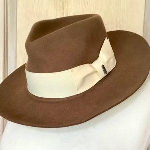 Brooklyn Hat Co Wool Brown Hat Floppy Wide Brim